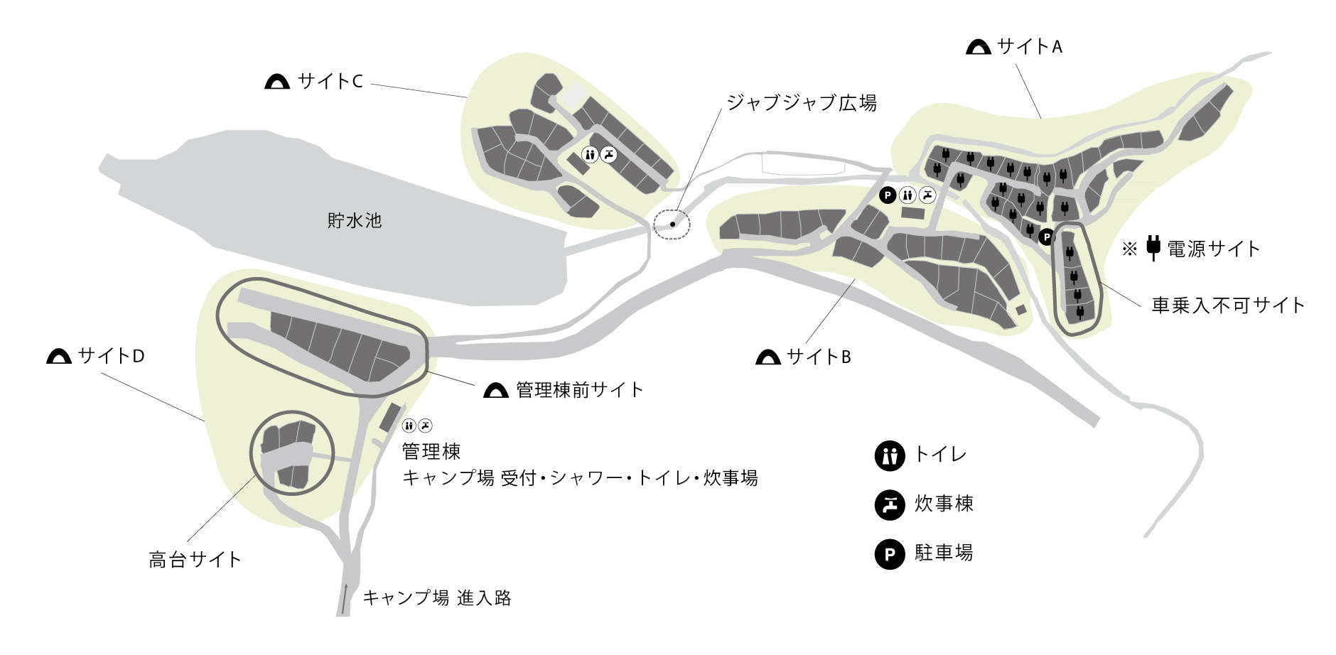 Snow Peak Minoh Field Map