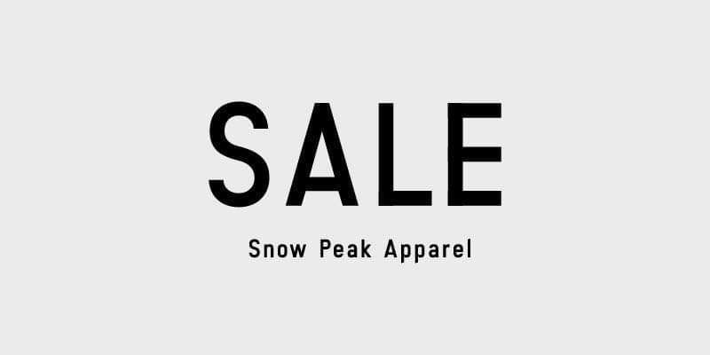 *SALE Snow Peak Apparel*
